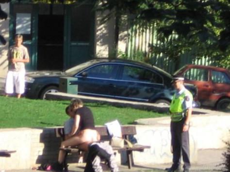 Having sex in public place