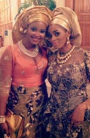 Omowunmi Akinnifesi and Shade Okoya stunning in traditional attire at the introduction