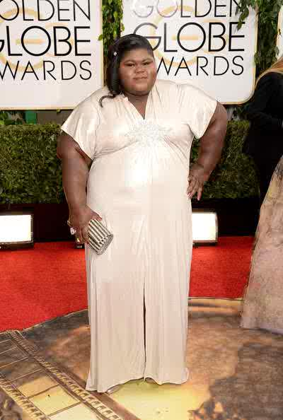 Gabourey Sidibe At 2013 Golden Globes